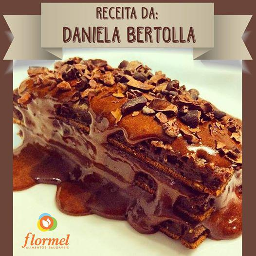 brownie fit com creme de avelã