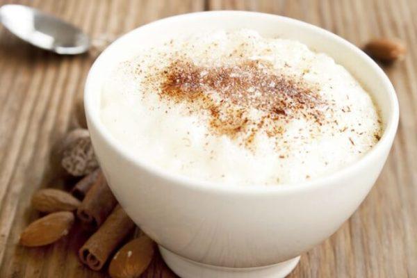 Canjica com chocolate branco