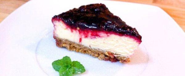 Cheesecake de frutas vermelhas - Zero Açúcar