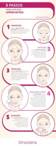 5 passos limpeza pele