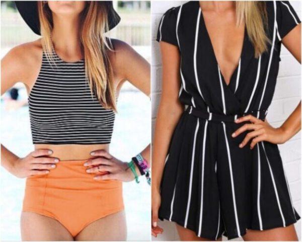 Como usar roupas com listras