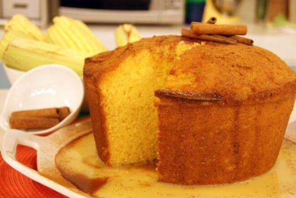 bolo de milho especial zero açúcar