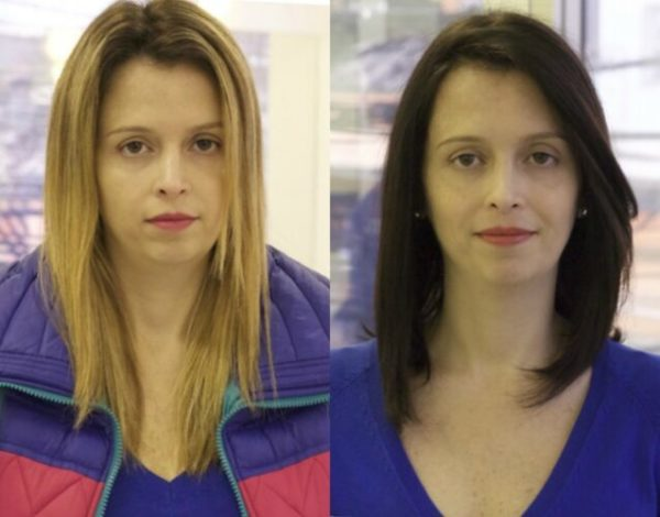 Transformação no look - De loira para morena