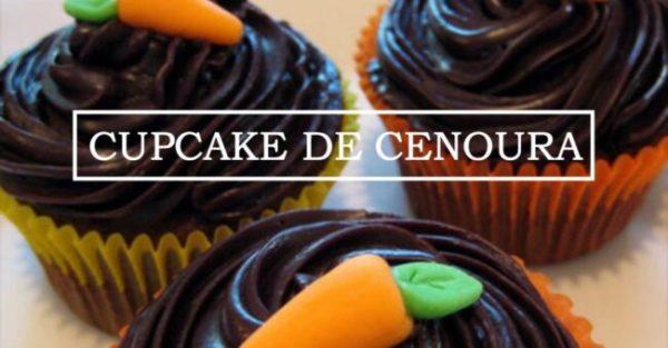 Cupcake de cenoura com chocolate sem glúten e lactose