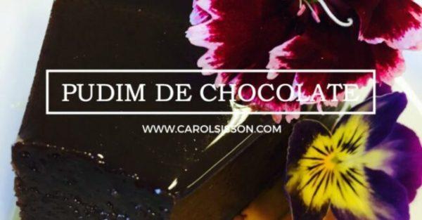 Pudim de chocolate - Zero açúcar
