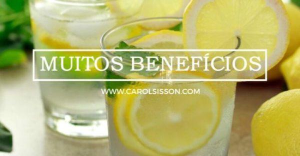 Água com limão para limpar o organismo