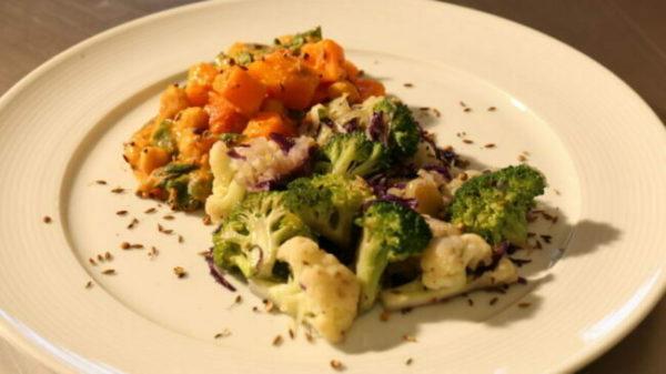 Receita Vegetariana: Kumara e Curry de Coco
